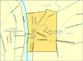 Census Bureau map of Frenchtown, New Jersey