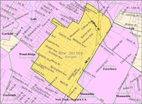 Census Bureau map of Hasbrouck Heights, New Jersey