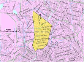 Census Bureau map of Hawthorne, New Jersey