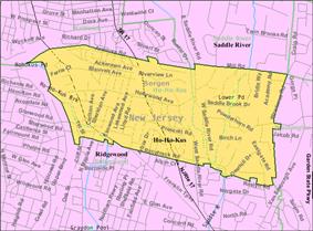 Census Bureau map of Ho-Ho-Kus, New Jersey