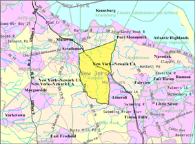 Census Bureau map of Holmdel Township, New Jersey