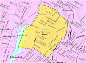 Census Bureau map of Leonia, New Jersey