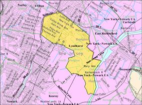 Census Bureau map of Lyndhurst, New Jersey