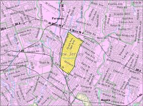 Census Bureau map of Maywood, New Jersey