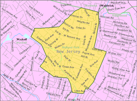 Census Bureau map of Midland Park, New Jersey