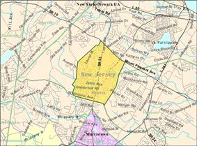 Census Bureau map of Morris Plains, New Jersey