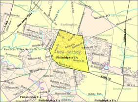 Census Bureau map of Mount Holly Township, New Jersey