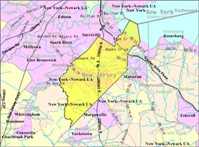 Census Bureau map of Old Bridge Township, New Jersey