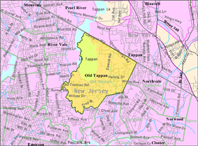 Census Bureau map of Old Tappan, New Jersey