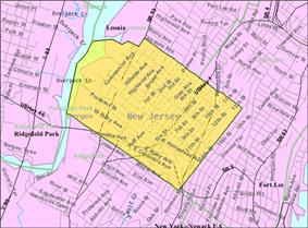 Census Bureau map of Palisades Park, New Jersey