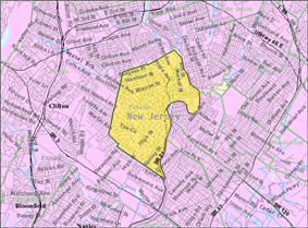 Census Bureau map of Passaic, New Jersey
