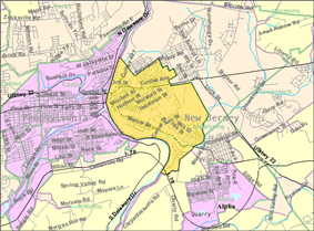 Census Bureau map of Philipsburg, New Jersey