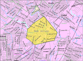 Census Bureau map of Rahway, New Jersey