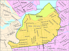 Census Bureau map of Red Bank, New Jersey