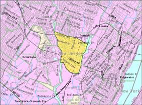 Census Bureau map of Ridgefield Park, New Jersey