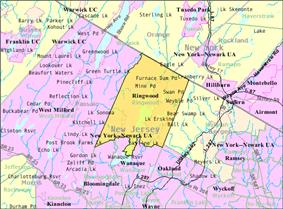 Census Bureau map of Ringwood, New Jersey