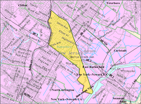 Census Bureau map of Rutherford, New Jersey