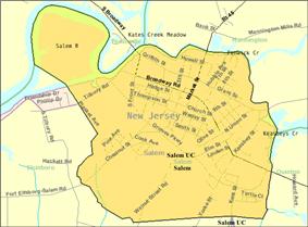 Census Bureau map of Salem, New Jersey