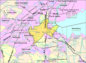 Census Bureau map of Sayreville, New Jersey