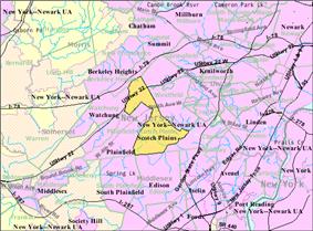 Census Bureau map of Scotch Plains, New Jersey