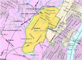 Census Bureau map of Secaucus, New Jersey