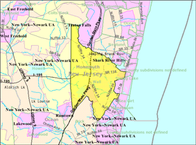 Census Bureau map of Wall Township, New Jersey