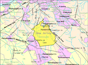 Census Bureau map of Washington Township, Gloucester County, New Jersey