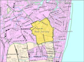 Census Bureau map of West Long Branch, New Jersey