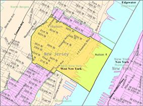 Census Bureau map of West New York, New Jersey