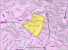 Detailed Census Bureau map of West Paterson in 2000