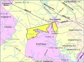 Census Bureau map of Weymouth Township, New Jersey