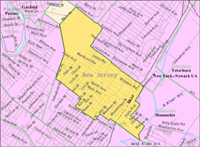 Census Bureau map of Wood-Ridge, New Jersey