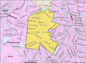 Census Bureau map of Wyckoff, New Jersey