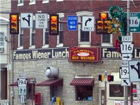 The Famous Hot Wiener restaurant in downtown Hanover