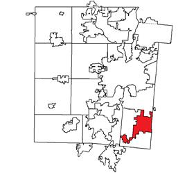 Location within Montgomery County, Ohio