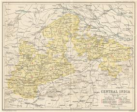 Location of Central India Agency