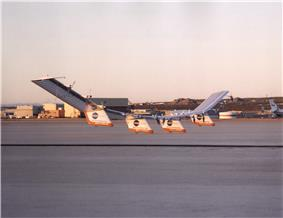 Centurion takes off from Dryden in December 1998