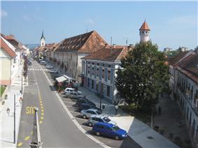View of Brežice, the administrative centre of the Municipality of Brežice