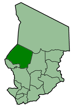 Location of Kanem