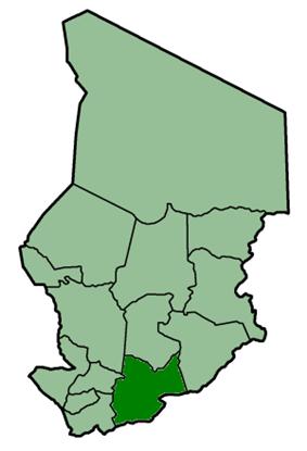 Location of Moyen-Chari