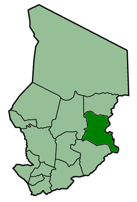 Location of Ouaddaï