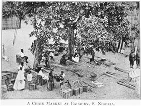 A chair market at Badagry in 1910.