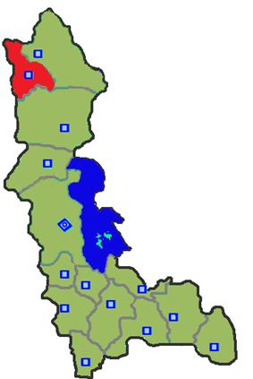 Location of Chaldoran County in West Azerbaijan Province.