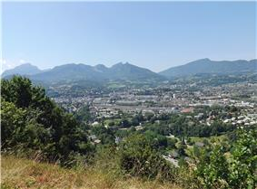 A general view of Chambéry