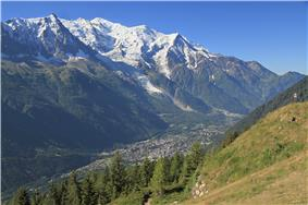 The Chamonix valley seen from la Flégère