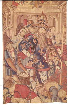 Flemish School tapestry of Charlemagne