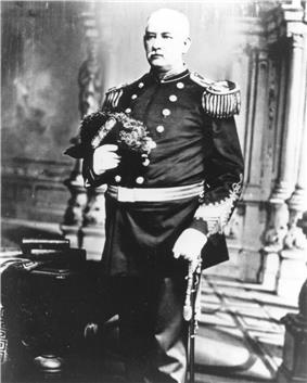 black & white photograph of Charles G. McCawley