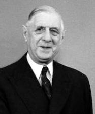 Portrait photograph of Charles de Gaulle