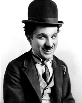 Chaplin in his costume as