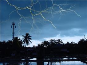 A monsoon scene from Cherukunnu